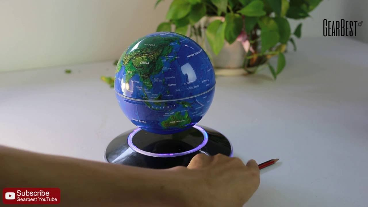 Magnetic levitation floating globe world map gearbest youtube magnetic levitation floating globe world map gearbest gumiabroncs Images