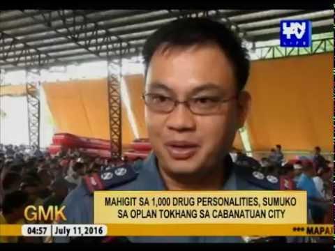Mahigit sa 1,000 Drug Personalities, sumuko sa Oplan Tokhang sa Cabanatuan City