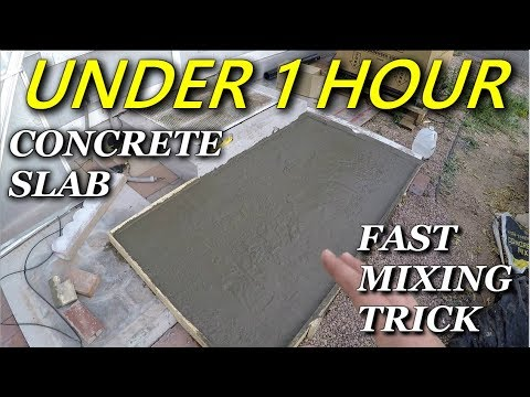 How To Quickly Pour a Concrete Slab By Hand