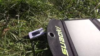 review of solar charger suaoki 25w tested with usb multimeter