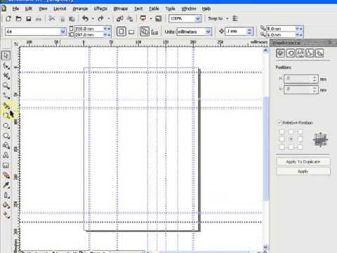 227.Howto create invoice with CorelDRAW 3/3 วิธีสร้างแบบฟอร์มบิล