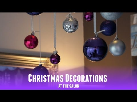 Christmas decorations at the salon youtube for Salon xmas decorations