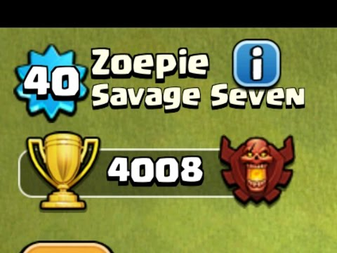 TH5 At 4000 Trophies And Level 40 | Highest RECORD In History | Clash Of Clans
