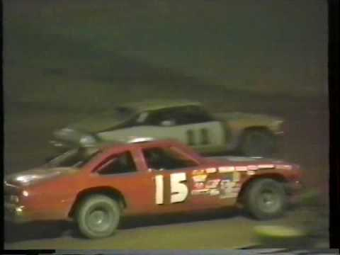 1987 Beckley Motor Speedway Pure Street Stock Feature - Keith Bills wins, Lanny Hunt 2nd