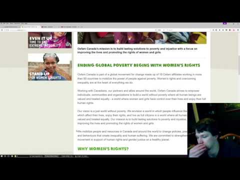 OXFAM: Feminism + Africa = Money Somehow?