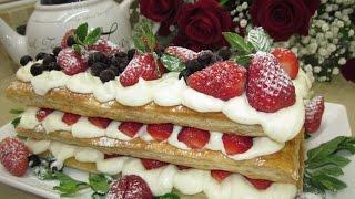Рецепт- Торт-пирожное Мильфей!