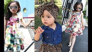 LATEST Girls Princess Dress For Girl 2018 kids dress design images Clothes Kids Girls shopping 1