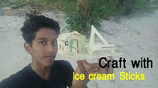 Craft with ice cream Sticks 😎😘😊😍😍How to make a phone stand with ice cream sticks