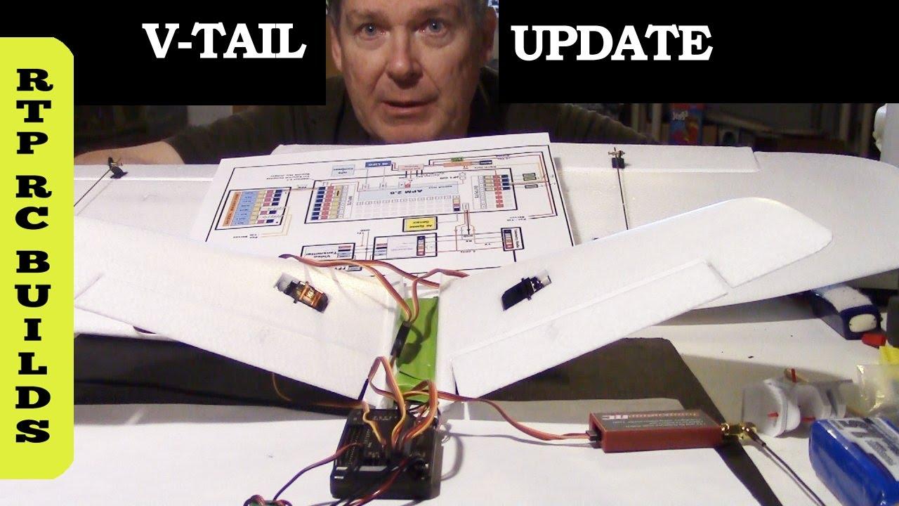 medium resolution of ardupilot v tail mixing servo setup update xuav mini talon vtail plane part 9