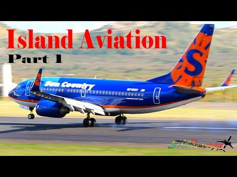 Island Aviation Part (1) Private Jets, American 738, Sun Country 737, United 738 @ St. Kitts