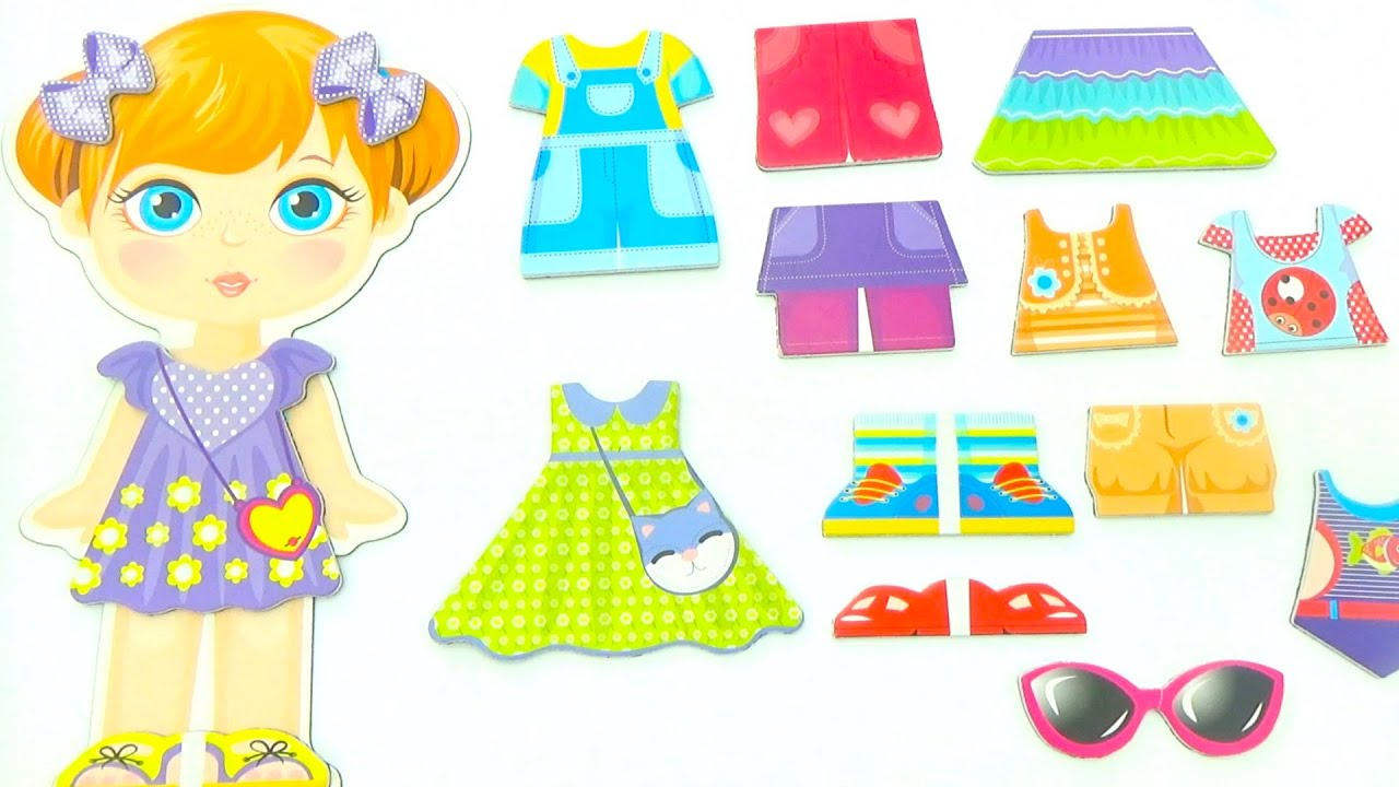 Магнитные переодевашки, забавная игрушка для девочек.