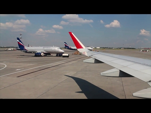 Aeroflot A320 Sharklets Moscow Sheremetyevo-Oslo Safety, Takeoff, Inflight, Landing in hail storm