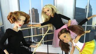 ПЕРВЫЙ УРОК В БАЛЕТНОЙ СТУДИИ Мультик #Барби Школа Девочки Играют в Куклы