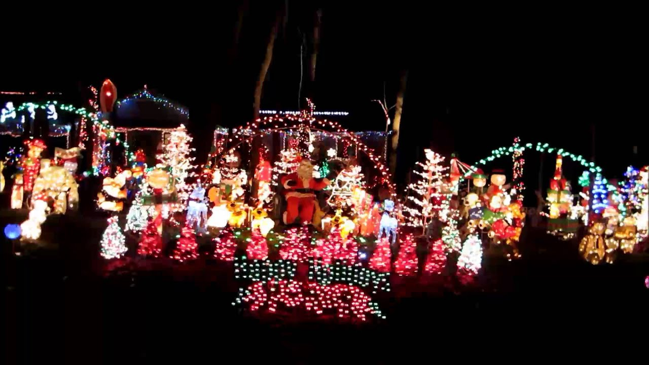 christmas competition outside light decorations dec 13 2013 youtube