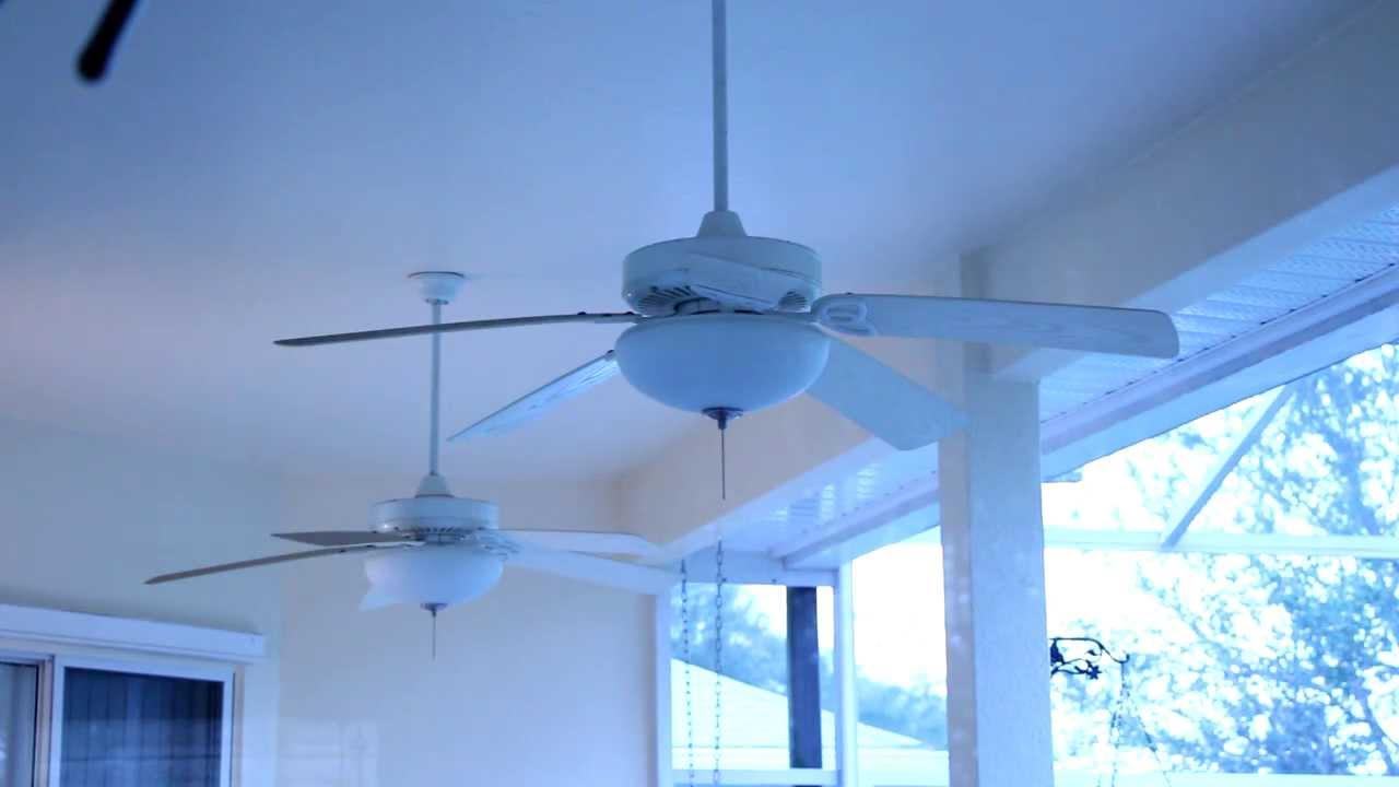 Hampton Bay Gazebo Back Porch Ceiling Fans With Altura Light Kits You