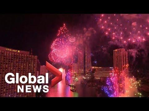 Bangkok revellers 'Thai' one on with 2019 New Year's celebration