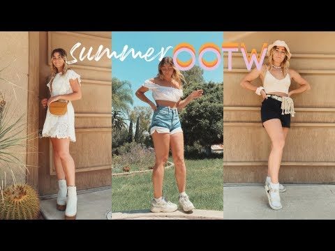 SUMMER OUTFITS OF THE WEEK (for when it's hot af) thumbnail