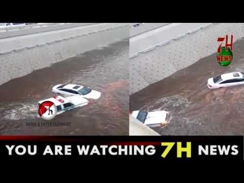 Heavy rain & floods in Saudi Arabia Jeddah K.S.A   7H News