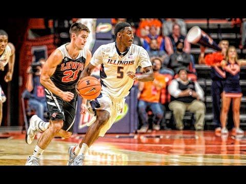 Illini Basketball Highlights vs. Lewis 11/4/16