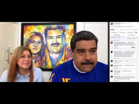 Nicolás Maduro y Cilia Flores en Facebook Live, 13 mayo 2018