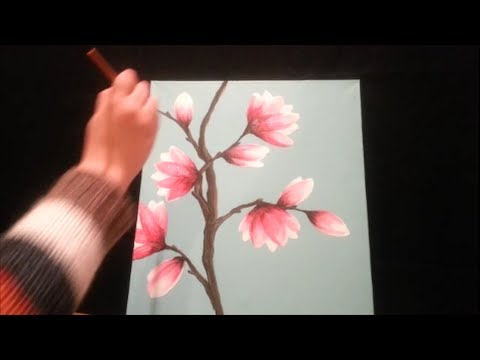 How To Paint Magnolia Blossoms