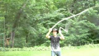 Some whip moves for a circus artist