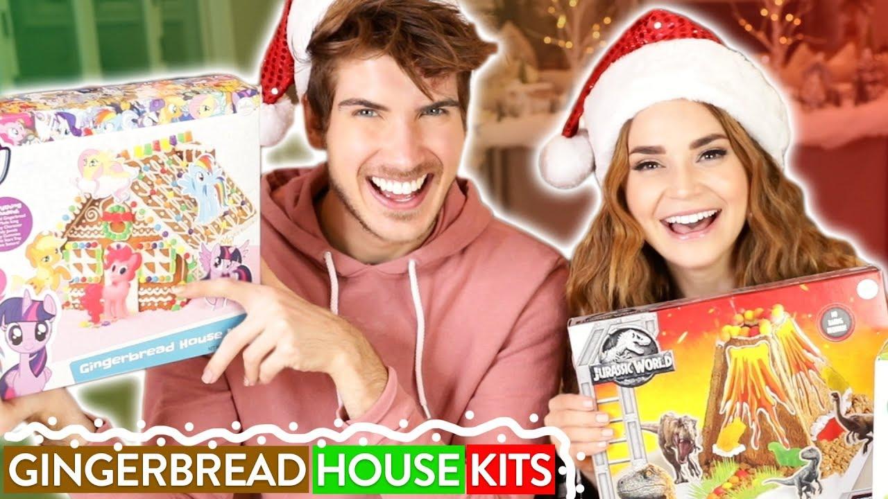 Trying Fun Gingerbread House Kits w/ Joey Graceffa!!!