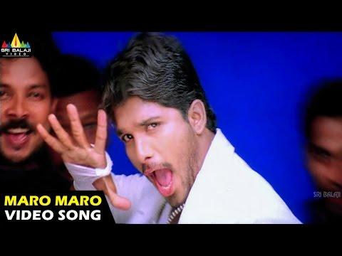 Bunny Songs | Maro Maro Video Song | Allu Arjun, Gouri Mumjal | Sri Balaji Video