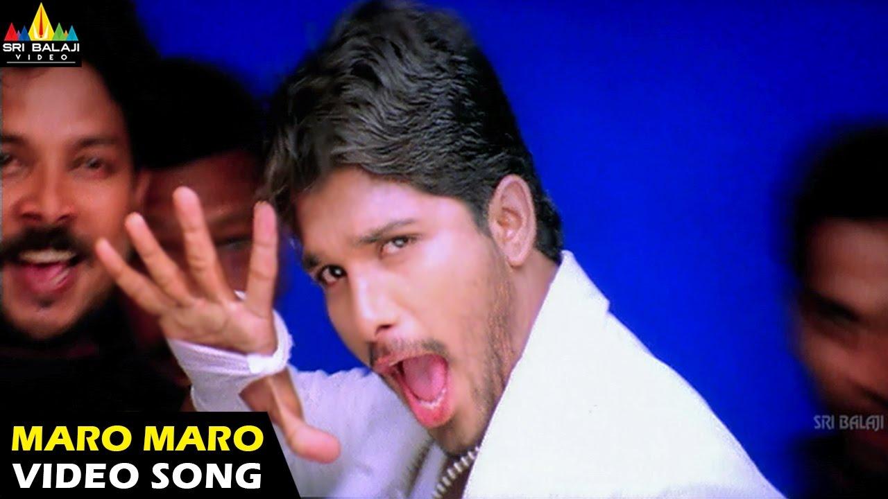 Download Bunny Songs | Maro Maro Video Song | Allu Arjun, Gouri Mumjal | Sri Balaji Video