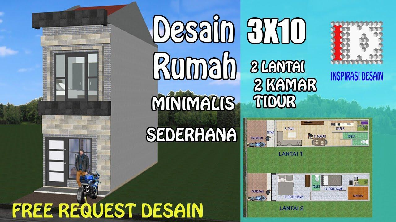 Rumah Sederhana 3x10 2 Lantai Minimalis Rumah3x10 Rumahsederhana Rumahmungil Youtube