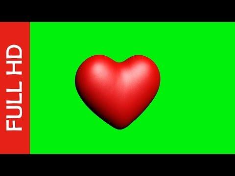 Green Screen Heart Love Animation HD