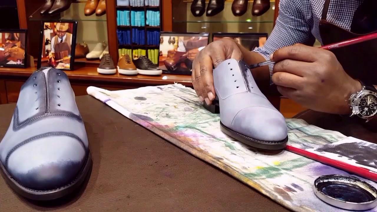 1337f1773615 Gray patina on Loding Oxford shoes Patine grise sur Richelieus de chez  Loding