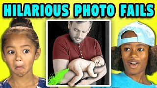 10 HILARIOUS PHOTO FAILS w/ Kids (REACT)