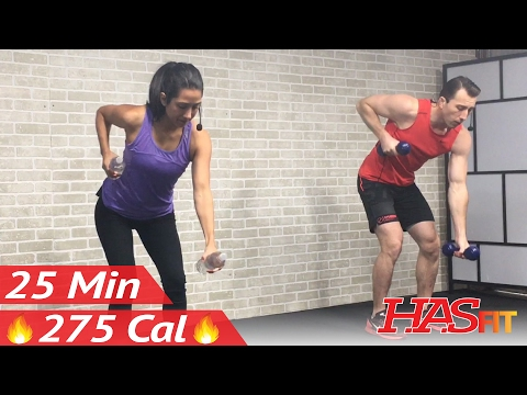 25 Min Beginner Cardio and Strength Training - Home Low Impact Cardio Workout for Beginners - Weight