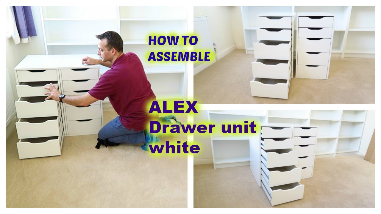 IKEA ALEX Drawer unit assembly