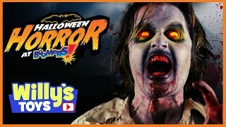 HALLOWEEN HORROR at Boomers - Haunted Maze ZOMBIES Clowns MINI TEACUPS - Willy