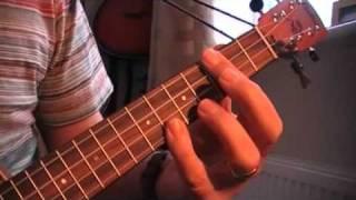 Honey Pie - Beatles cover on ukulele showing chords