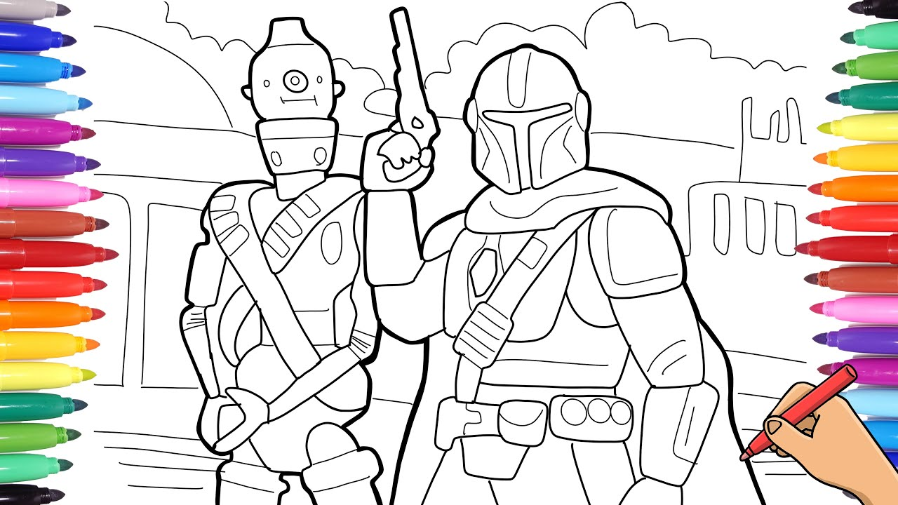 DRAWING STAR WARS THE MANDALORIAN WITH SHARPIE MARKERS ...