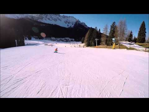 Piste facili Carezza ski: pista blu Golf