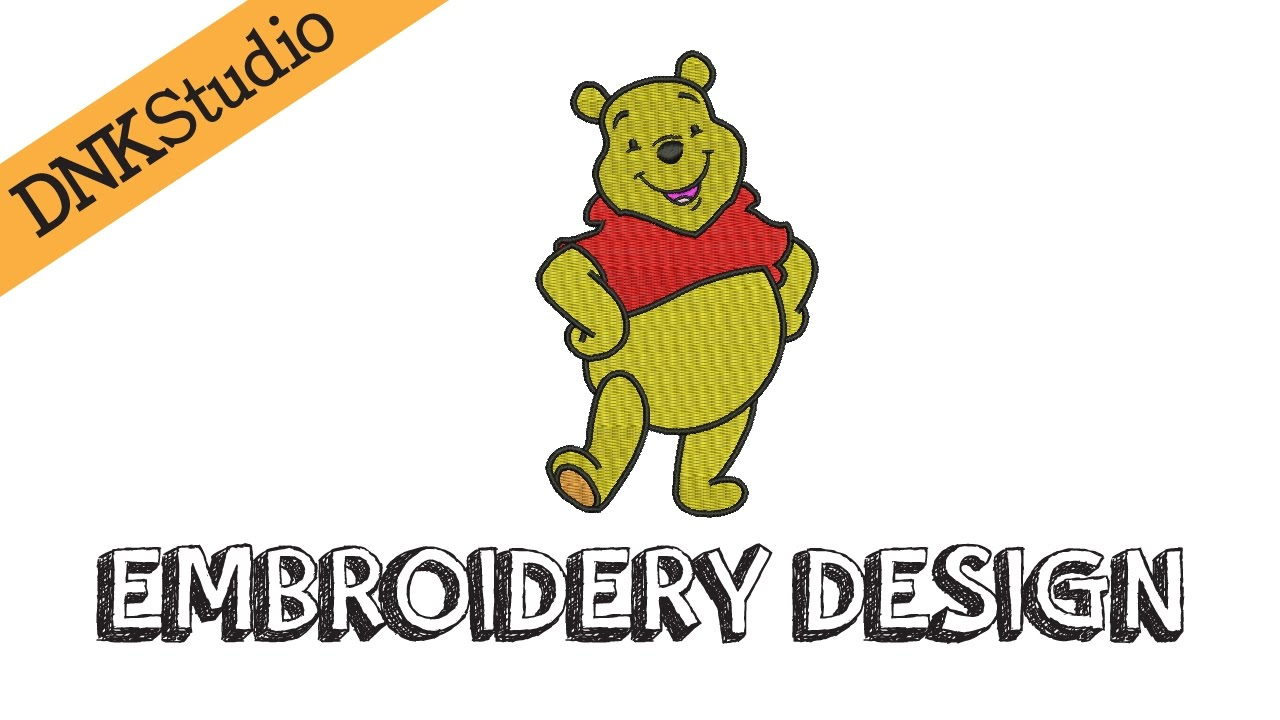 Winnie The Pooh Embroidery Design Youtube