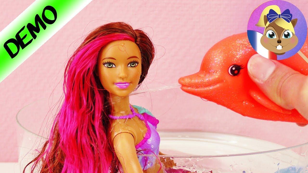 Poup e barbie sir ne dauphin dans la piscine - Barbi la sirene ...