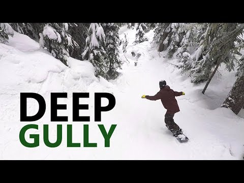 Deep Gully Snowboarding at Timberline