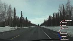 Alaska - Anchorage to Fairbanks  -Time Lapse 360 Miles in 7 Minutes