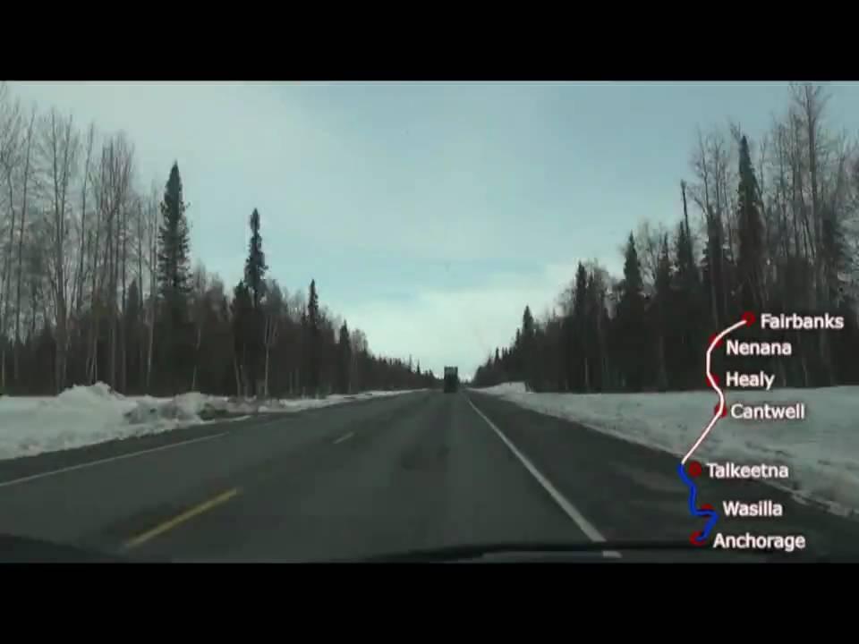 Alaska Anchorage To Fairbanks Time Lapse Miles In Minutes - Where is fairbanks