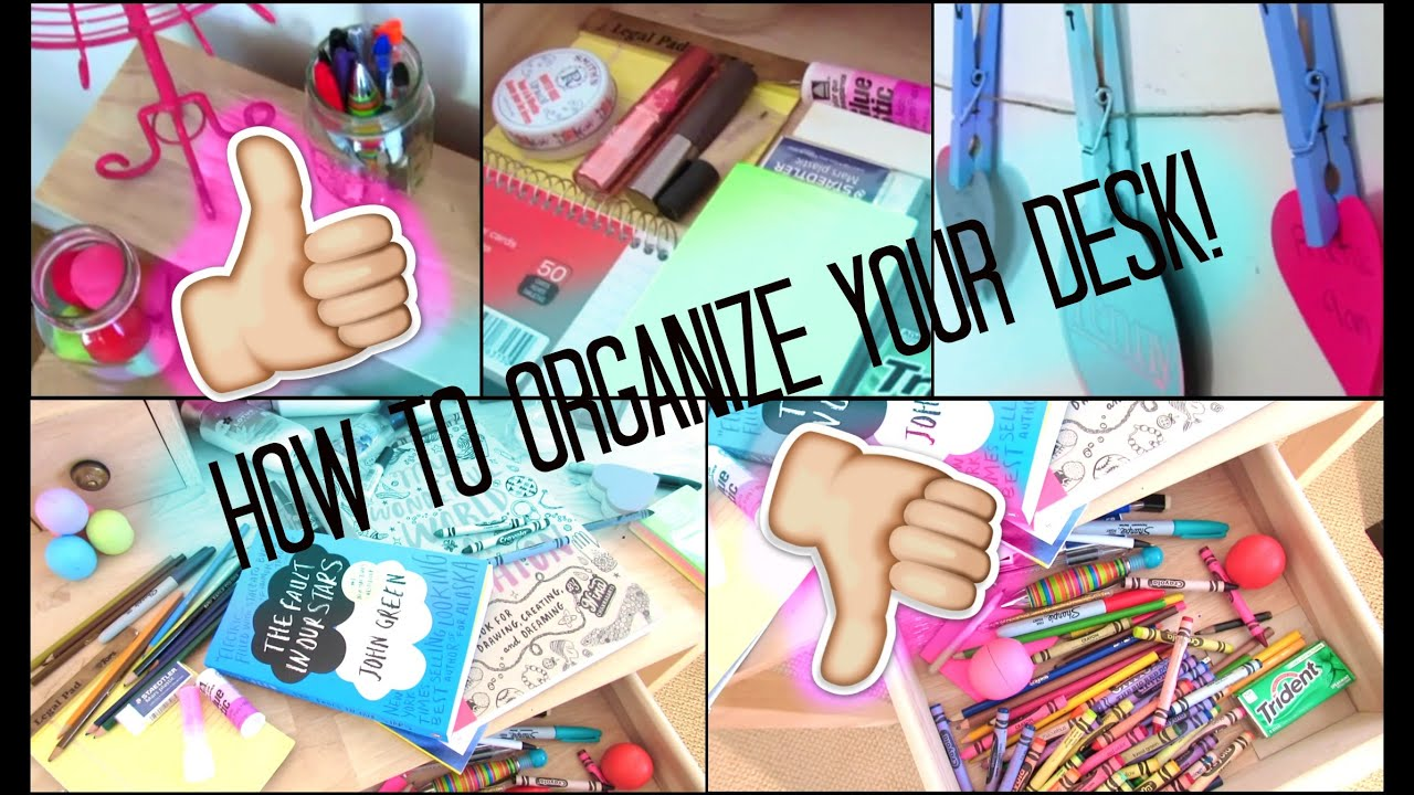 how to organize your desk youtube