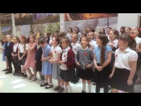 Kingfisher School Choir Singing In The Atrium