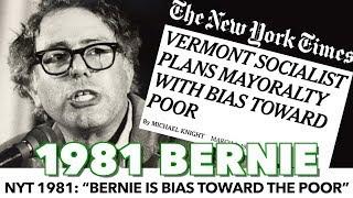 "NYT 1981: ""Bernie Shows Bias Toward The Poor"""