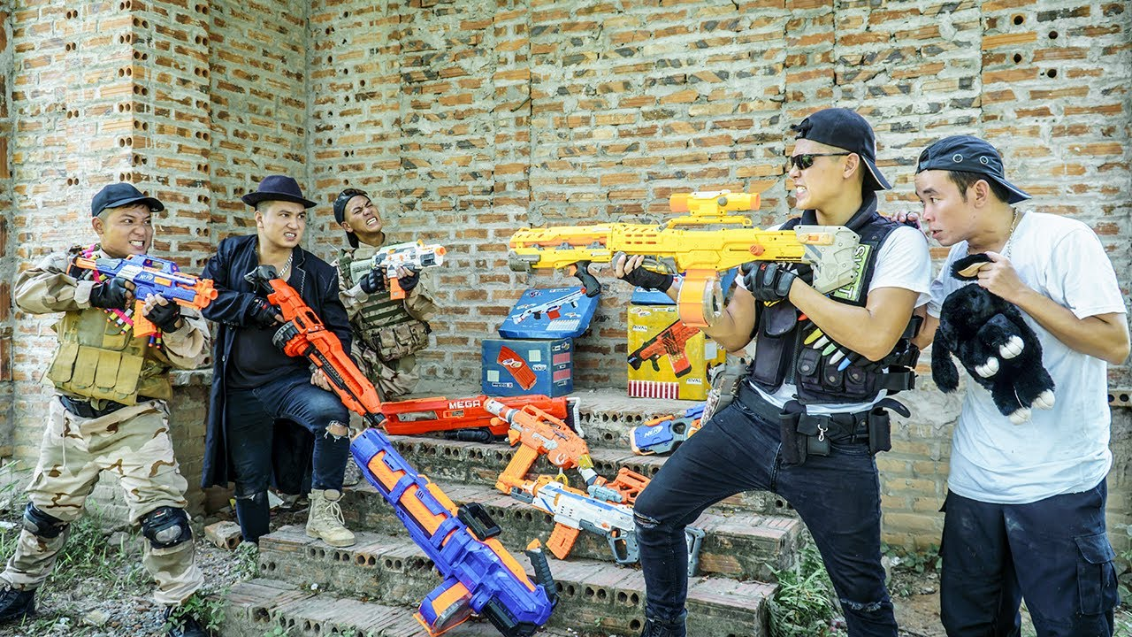 LTT Nerf War : SEAL X Warriors Nerf Guns Fight Criminal Group Dr.Lee Crazy Odd Soldiers Pro