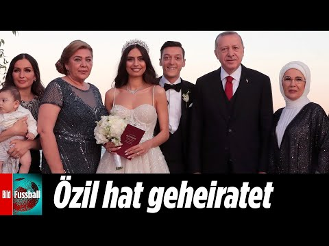 Erdogan Trauzeuge - Özil heiratet Model-Freundin Amine