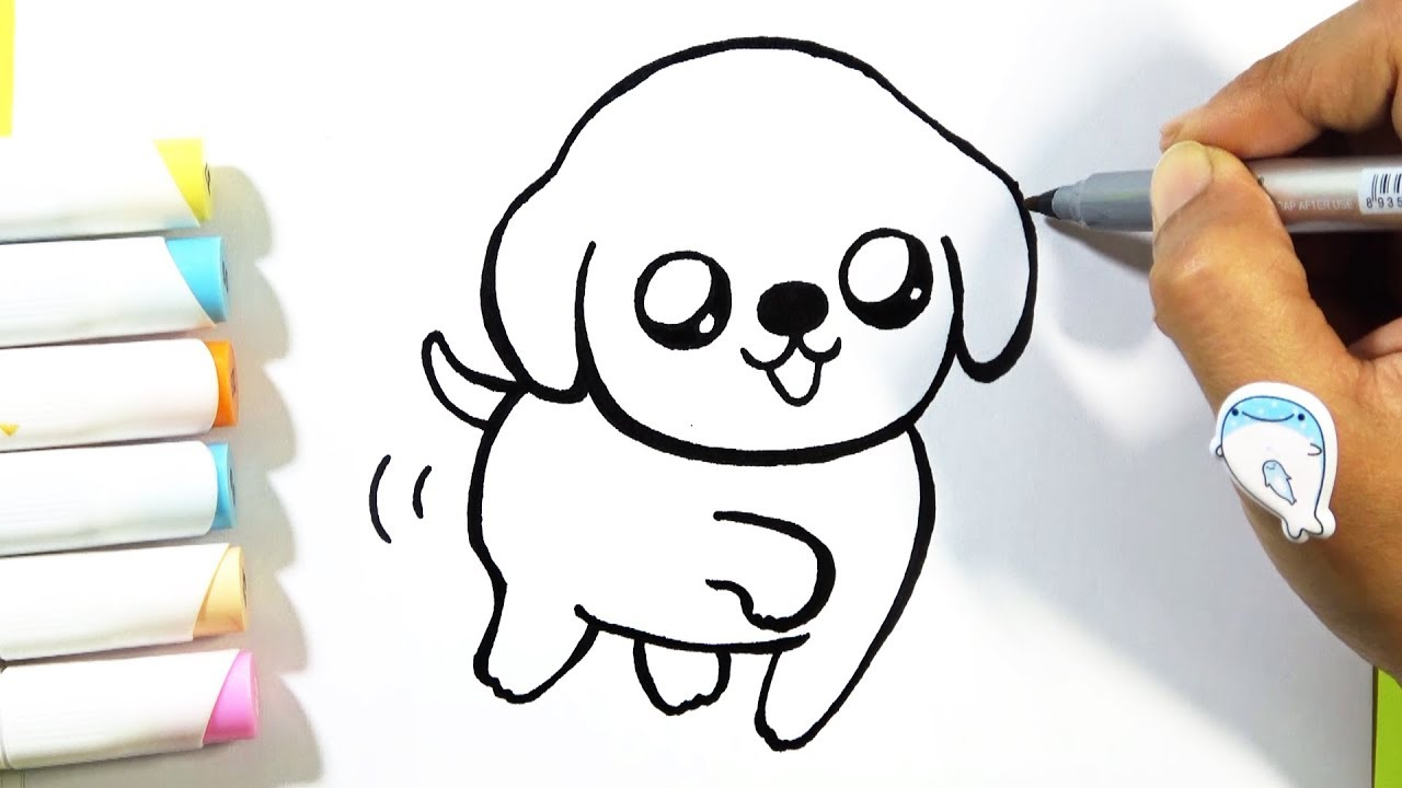 How to Draw Puppy CUTE - Easy - YouTube